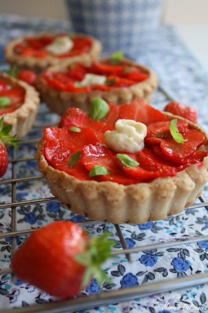 Strawberry & Frangipane Tartlets -Vegan and Gluten Free