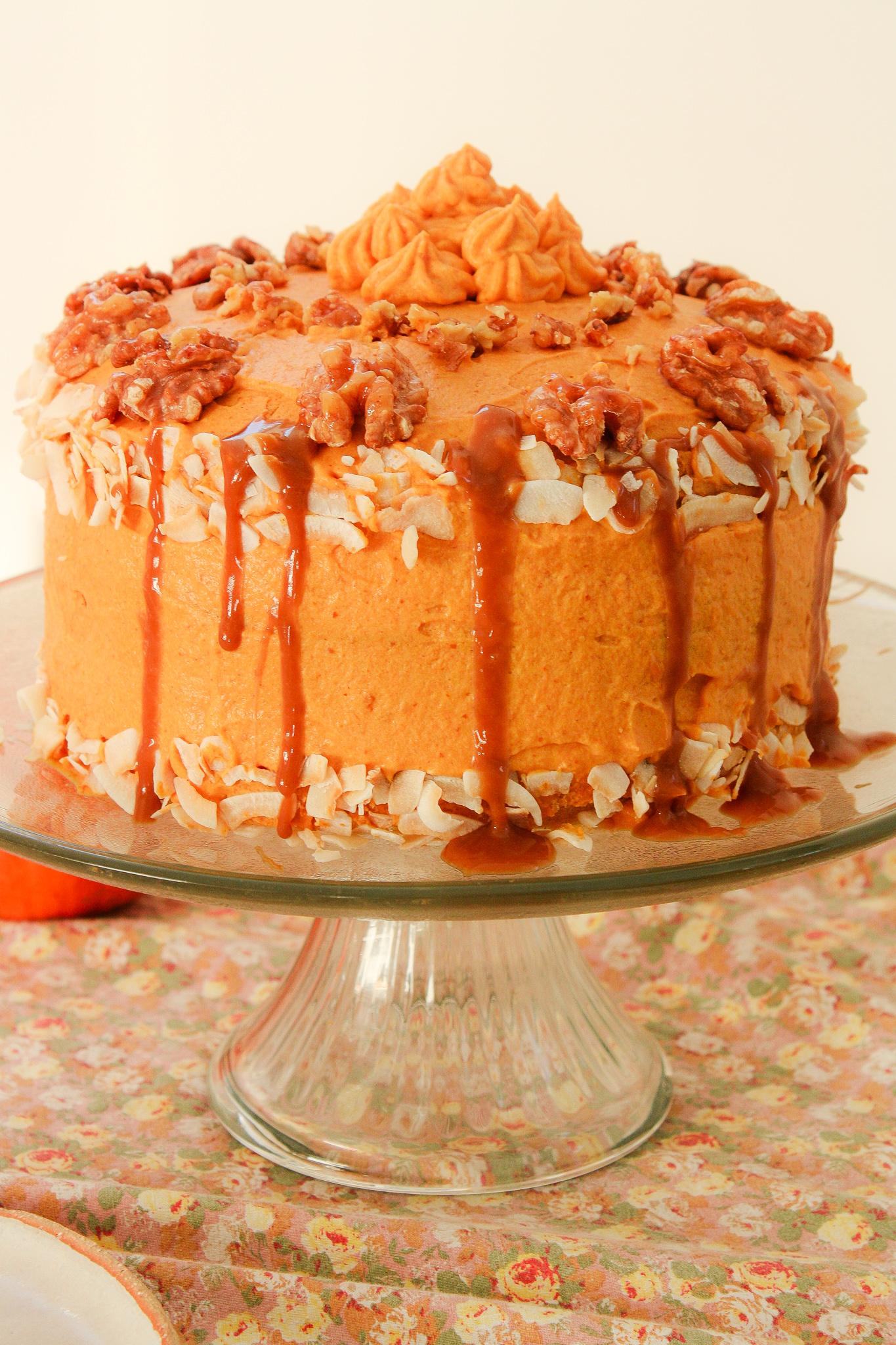 Gâteau à la Crème de Potiron Végan & Sans Gluten