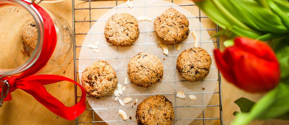 Coconut Chocolate Chips Cookies ꓲ Gluten-Free & Vegan