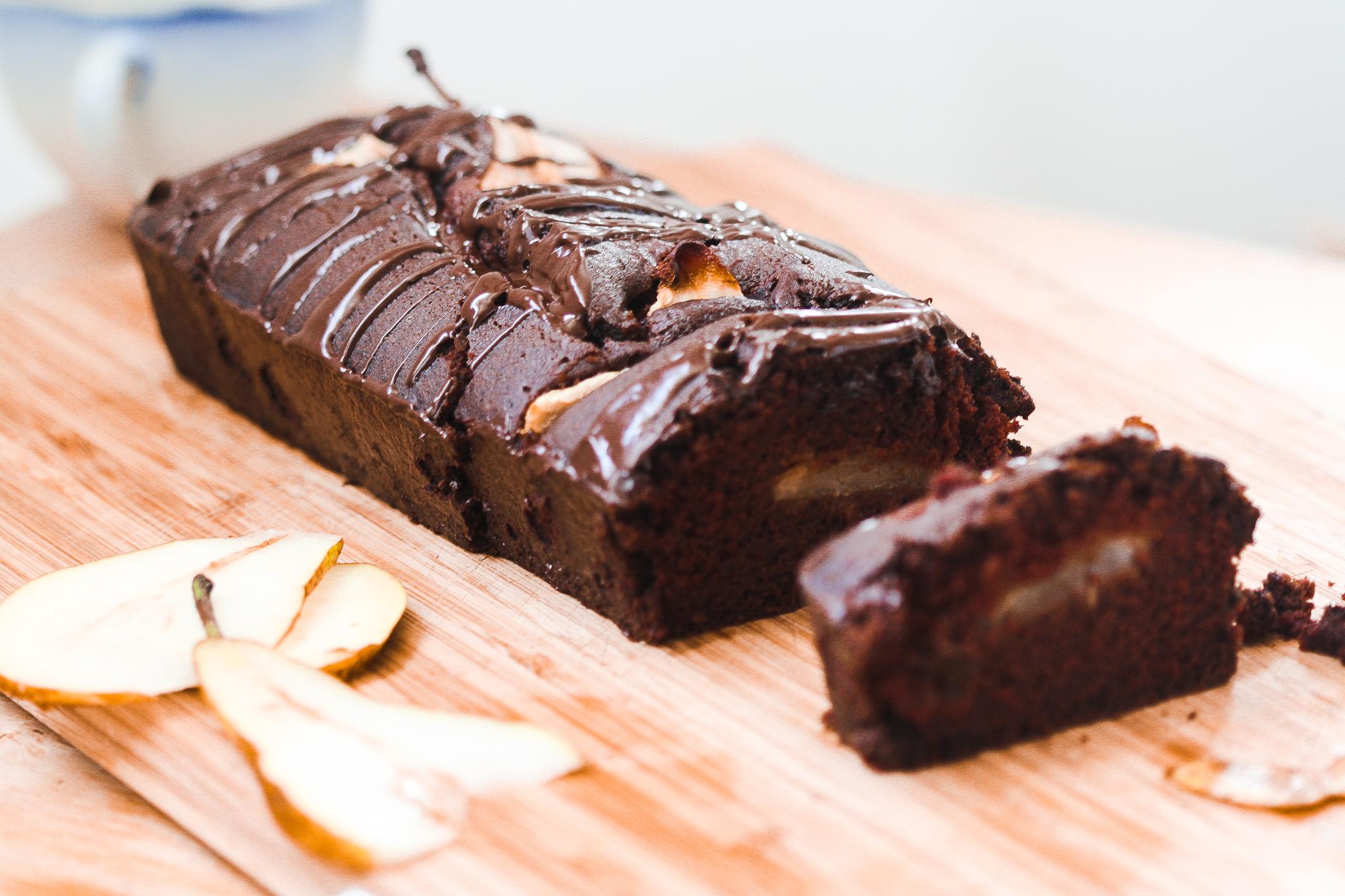 Gâteau Végan Poire & Chocolat