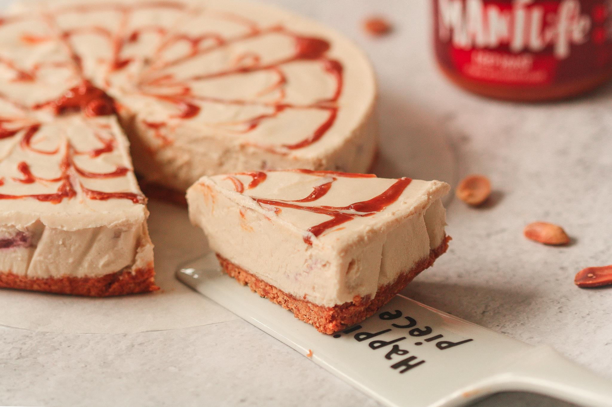 Cheesecake Végan au Beurre de Cacahuète
