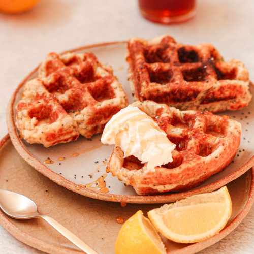 Lemon Poppy Seeds Waffles