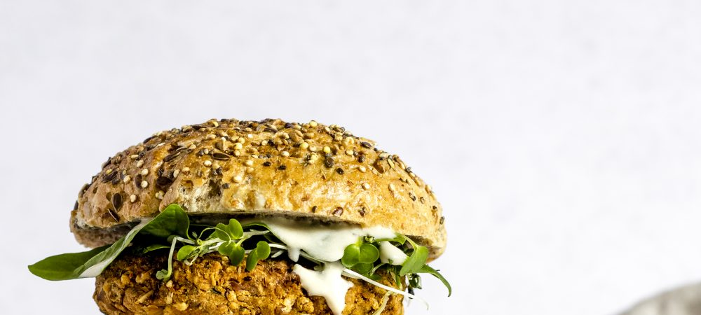 Vegan & Gluten-Free Chickpea Burger by Foodography