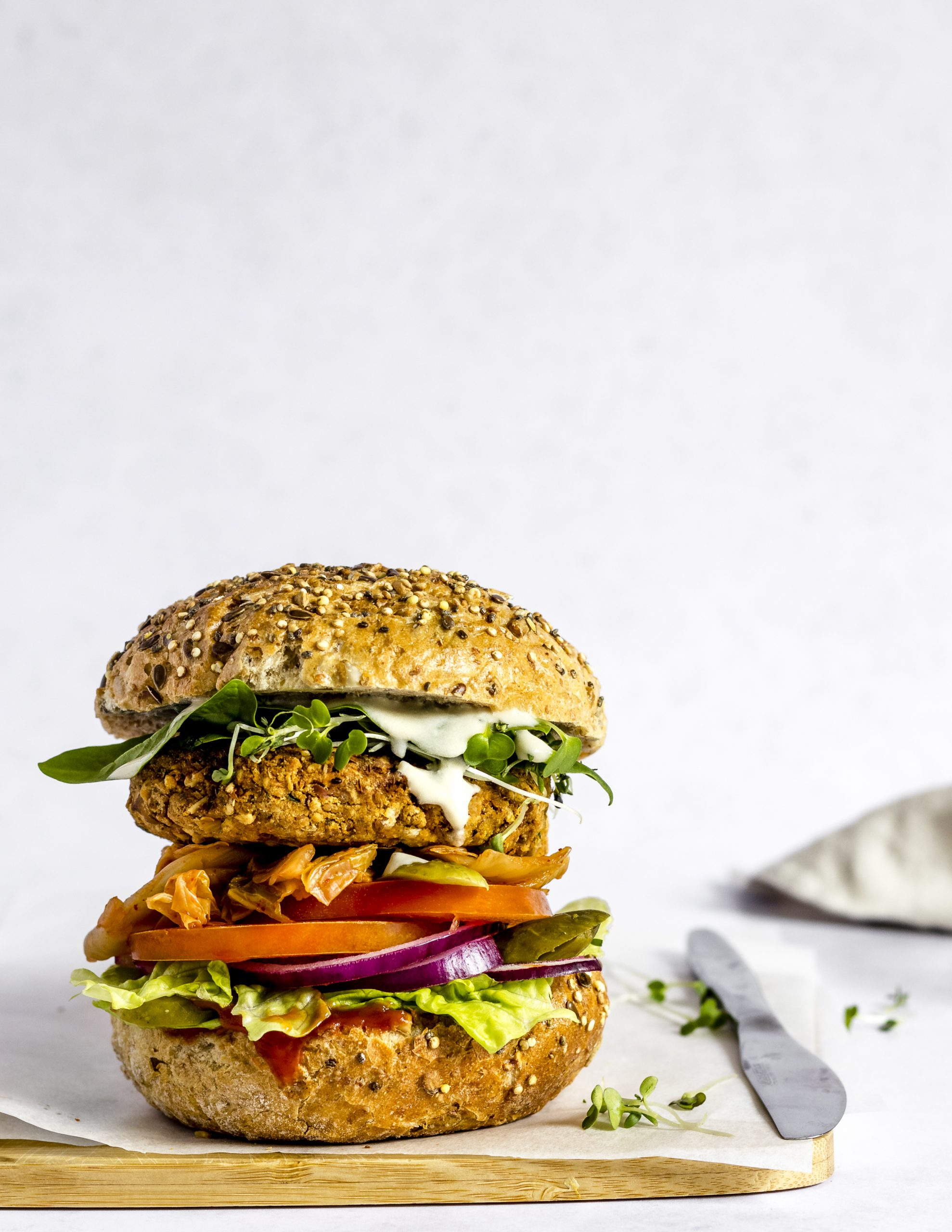 Vegan & Gluten-Free Chickpea Burger
